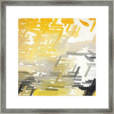 Bright Slashes Framed Print