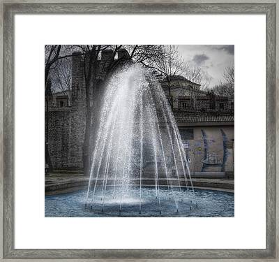 Bright Spot On A Cloudy Day Framed Print