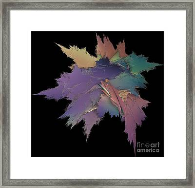 Bright Spray Of Leaves Bouquet Framed Print