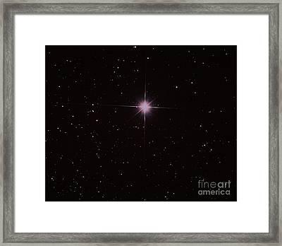 Bright Star Capella Framed Print