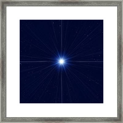 Bright Star In Space Framed Print by Detlev Van Ravenswaay