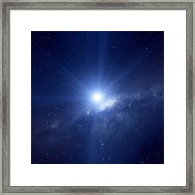 Bright Star In The Milky Way Framed Print by Detlev Van Ravenswaay