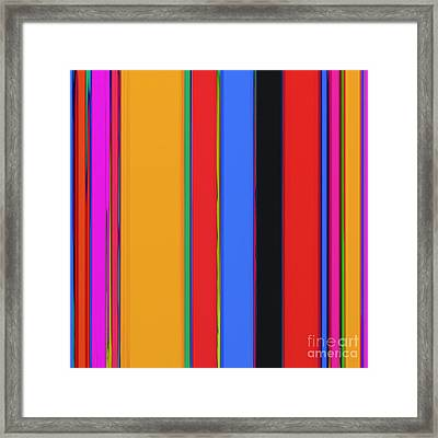 Bright Stripes Framed Print by Keith Mills