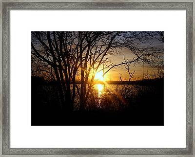 Bright Sunrise Framed Print by Jason Lees