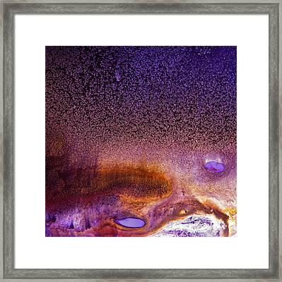 Bright Violet Abstract Art Serene Clouds By Kredart Framed Print by Serg Wiaderny