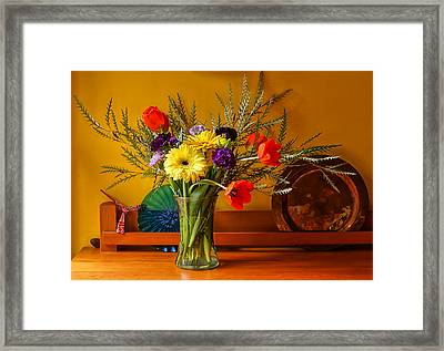 Bright Winter Bouquet II Framed Print