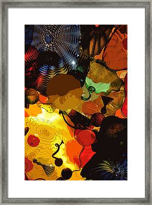 Bright Yellow Dark Blue Framed Print by Kirt Tisdale