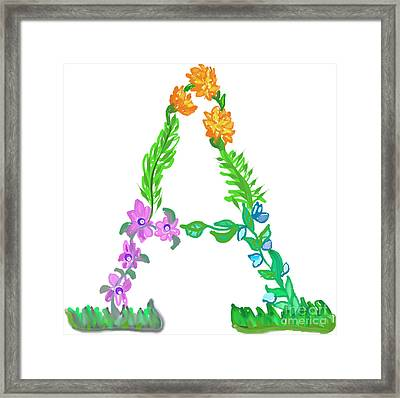 Brighten Up Your Day With The Letter A  Framed Print by Lea S
