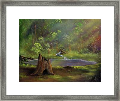 Brightening Framed Print