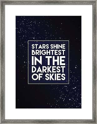 Brightest Stars Framed Print by Samuel Whitton