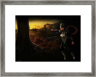 Brightlance In Motion Framed Print