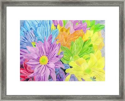 Brightly Coloured Flowers Framed Print by Bav Patel