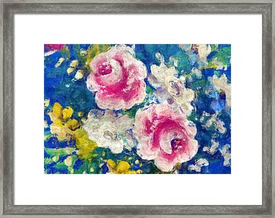 Brightly Floral Framed Print