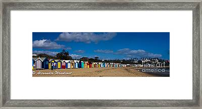 Brighton Bathing Box's Framed Print by Alexander Whadcoat