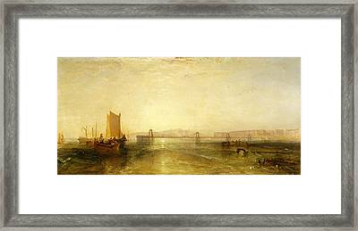 Brighton From The Sea, C.1829 Framed Print by Joseph Mallord William Turner