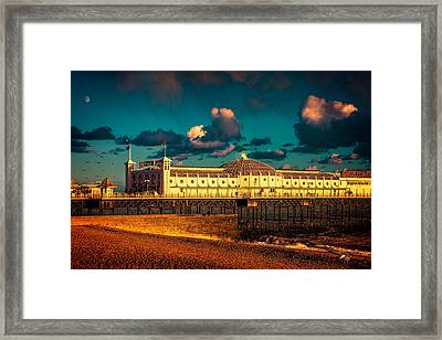Brighton Palace Pier Sunset Framed Print by Chris Lord