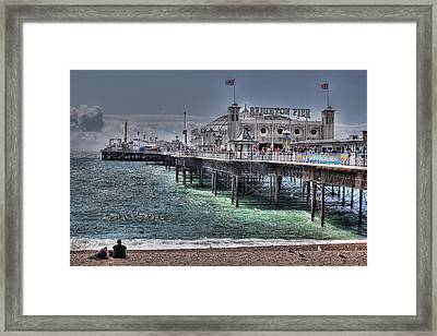 Brighton Pier Framed Print by Jasna Buncic