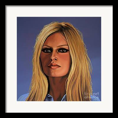French Celebrities Framed Prints