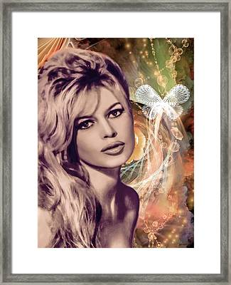 Brigitte Bardot Pop Art Framed Print by Catherine Arnas