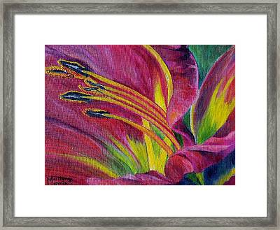 Brilliance Within Framed Print by Marilyn  McNish