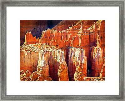 Framed Print featuring the photograph Brilliant Bryce by Marty Koch