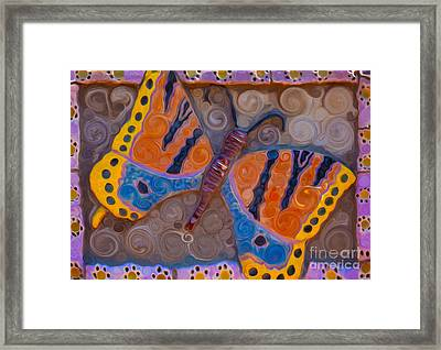 Brilliant Butterfly Framed Print by Omaste Witkowski