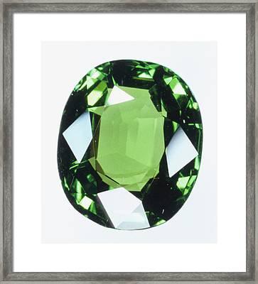 Brilliant Cut Green Grossular (garnet) Framed Print