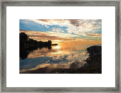 Brilliant Daybreak Impressions  Framed Print by Georgia Mizuleva