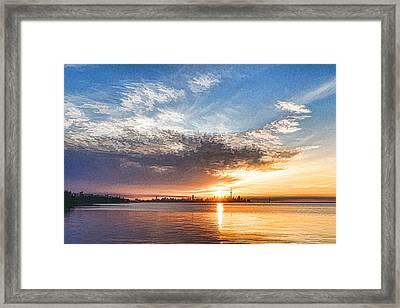 Brilliant June Sunrise - Toronto Skyline Impressions Framed Print by Georgia Mizuleva