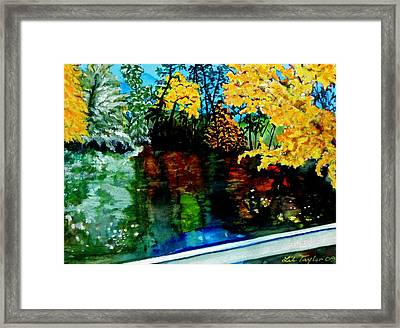 Framed Print featuring the painting Brilliant Mountain Colors In Reflection by Lil Taylor