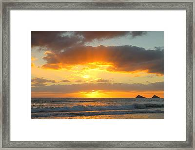 Brilliant Rays Framed Print by Saya Studios