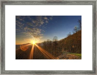 Brilliant Rays Framed Print