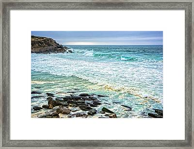 Brilliant Seascape In Portugal Framed Print