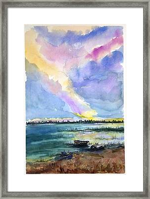 Framed Print featuring the painting Brilliant Sky Sold by Richard Benson