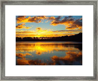 Framed Print featuring the photograph Brilliant Sunrise by Dianne Cowen
