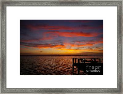 Brilliant Sunset Framed Print by Tannis  Baldwin