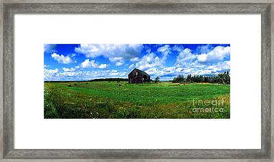 Brimley Farm Near  Sault Ste Marie Michigan  Framed Print by Tom Jelen