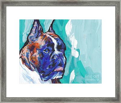 Brindle Boxer Baby Framed Print by Lea S