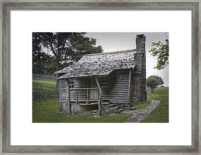 Brinegar Cabin In The Blue Ridge Parkway Framed Print