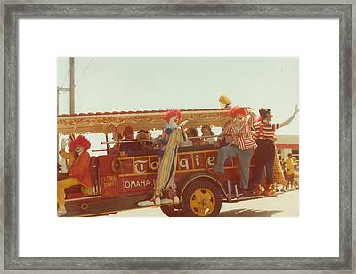 Bring In The Clowns Framed Print by Barb Baker
