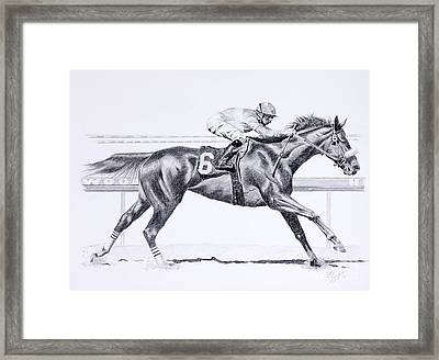 Bring On The Race Zenyatta Framed Print by Joette Snyder