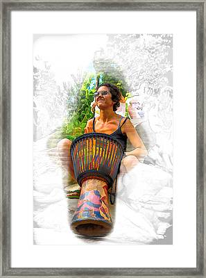 Bring Your Own Drum Framed Print by John Haldane