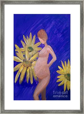 Framed Print featuring the painting Bringer Of Life by Marisela Mungia