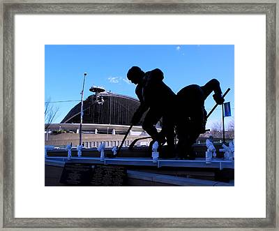 Bringing Down The House Framed Print by Spencer McKain