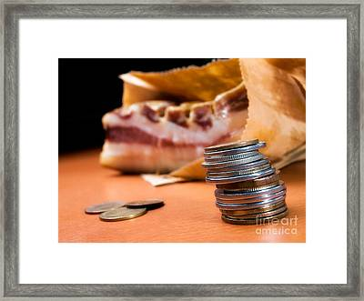 Bringing Home A Bacon Framed Print by Sinisa Botas