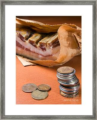 Bringing Home The Bacon Framed Print by Sinisa Botas