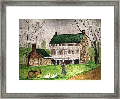 Bringing Home The Ducks Framed Print
