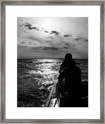 Bringing In The Nets Framed Print by Skip Willits