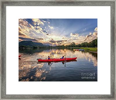 Framed Print featuring the photograph Bringing It In by Kari Yearous