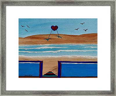 Bringing The Heart Home Framed Print